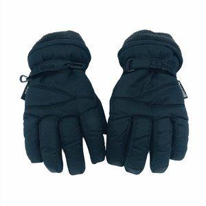 LL Bean Kids Black Thinsulate Winter Gloves